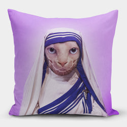 Mother Purresa Pillow