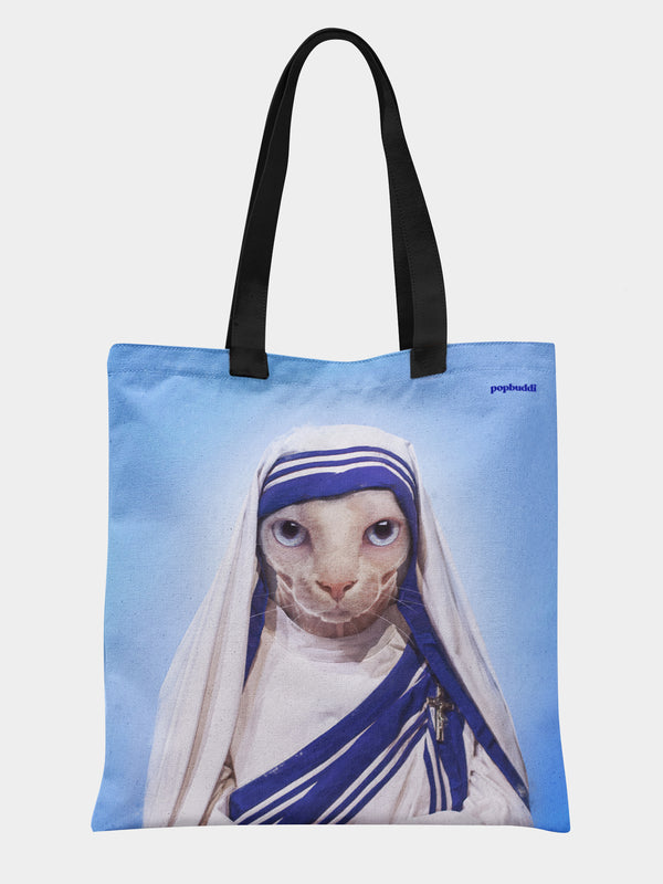 Mother Purresa Tote Bag