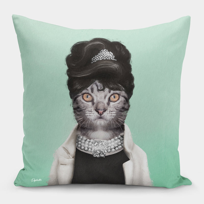 Pawdrey Hepburn Pillow