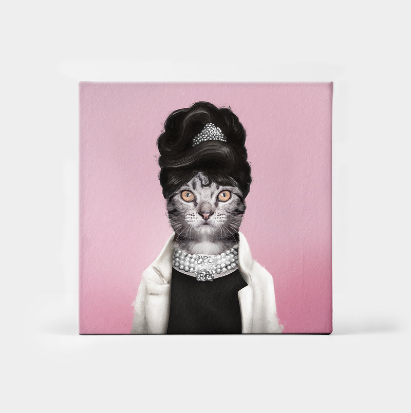 Pawdrey Hepburn Custom Canvas