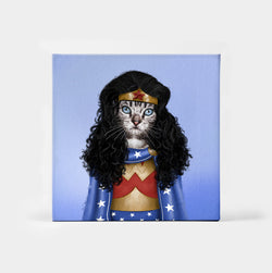 Meownder Woman Custom Canvas