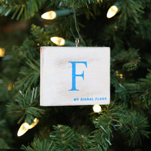 "Load image into Gallery viewer, ""F"" Flag Vintage Ornament - mysignalflags"