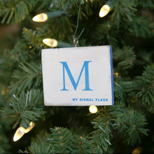 "Load image into Gallery viewer, ""M"" Flag Vintage Ornament - mysignalflags"