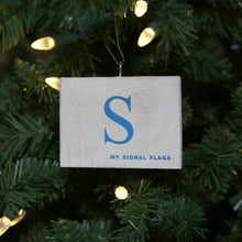"Load image into Gallery viewer, ""S"" Flag Vintage Ornament - mysignalflags"