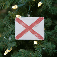 "Load image into Gallery viewer, ""V"" Flag Vintage Ornament - mysignalflags"