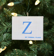 "Load image into Gallery viewer, ""Z"" Flag Vintage Ornament - mysignalflags"