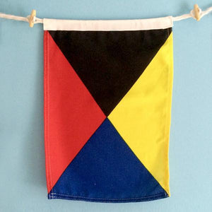 """Z"" Nautical Signal Flag - mysignalflags"