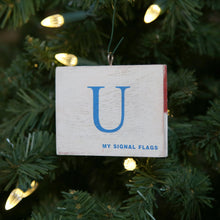"Load image into Gallery viewer, ""U"" Flag Vintage Ornament - mysignalflags"