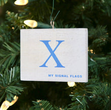 "Load image into Gallery viewer, ""X"" Flag Vintage Ornament - mysignalflags"