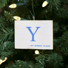 "Load image into Gallery viewer, ""Y"" Flag Vintage Ornament - mysignalflags"