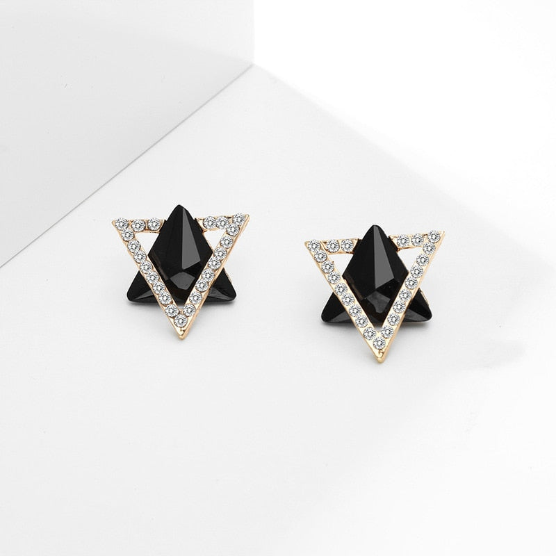 Triangle Star Trendy Black Earring For Pretty Ladies