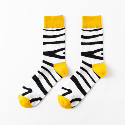 Pure cotton crew length men-women socks,inskinn130