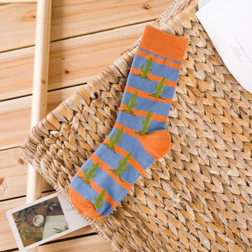 Pure cotton crew length men-women socks,inskinn137