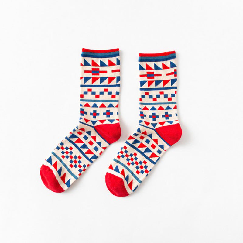 Pure cotton crew length men-women socks,inskinn152