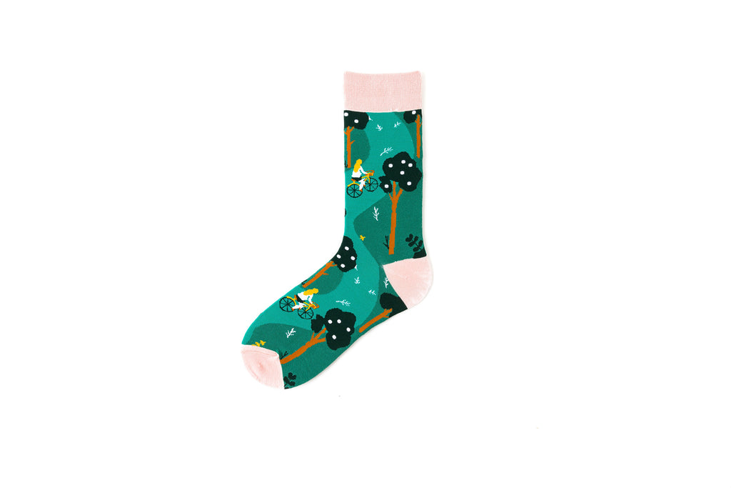 Pure cotton crew length men-women socks,inskinn360