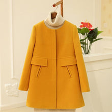 Load image into Gallery viewer, A-Line Wool Coat
