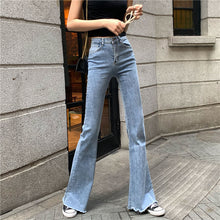Load image into Gallery viewer, Mom Black High Waist Flare Jeans