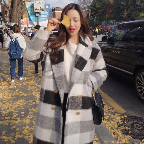 Cashmere Plaid Coat