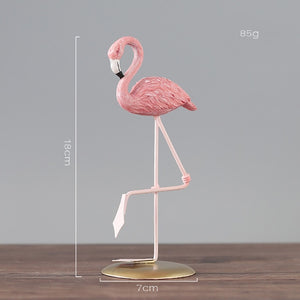 1pc Nordic Ins Pink Flamingo Ornaments Home Accessories Living Room Desktop Station Resin Flamingo Decorative Statue