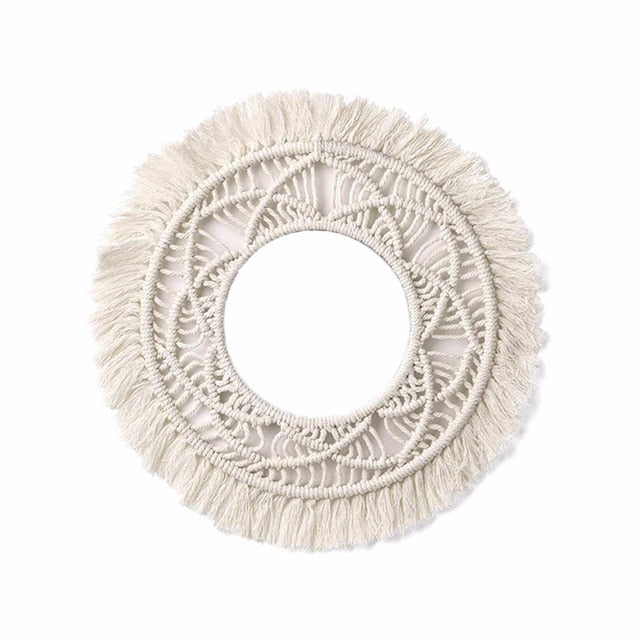 Handmade Bohemian Fringed Wall Frame Tapestry Macrame Ceremony Backdrop Wall Art Frame For Home Living Room Decoration
