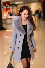 Load image into Gallery viewer, Fur Collar Button Coat