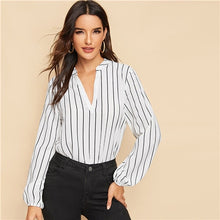 Load image into Gallery viewer, Striped Long Sleeve Blouse