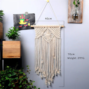 large  tapestry nordic V macrame wall hanging  wedding decoration handmade  room decoration party gift for women