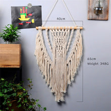 Load image into Gallery viewer, large  tapestry nordic V macrame wall hanging  wedding decoration handmade  room decoration party gift for women