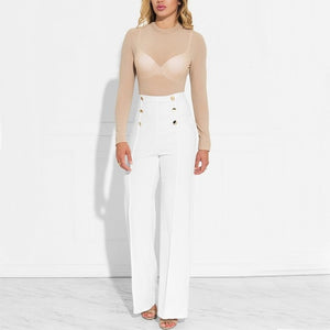 Button Straight Trousers