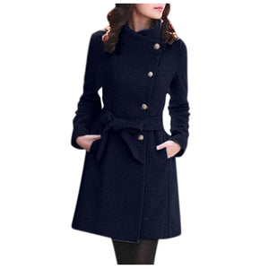 Winter Lapel Wool Coat