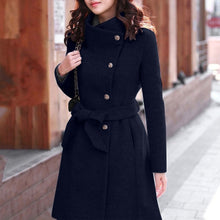 Load image into Gallery viewer, Winter Lapel Wool Coat