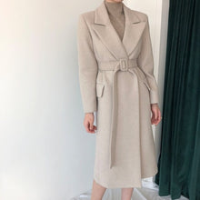Load image into Gallery viewer, Belted Wool Long Coat