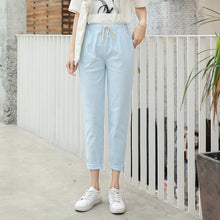 Load image into Gallery viewer, Cotton Linen Ankle Joggers