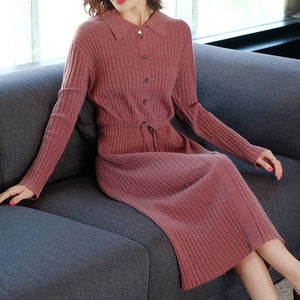 Knitted Solid Long Sleeve