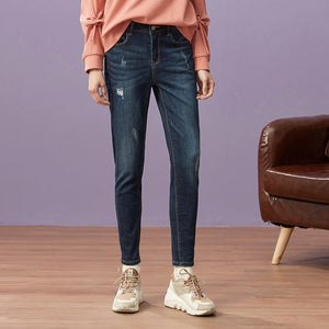Slim Ankle-Length Jeans