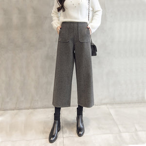 Wool Wide Leg Pants