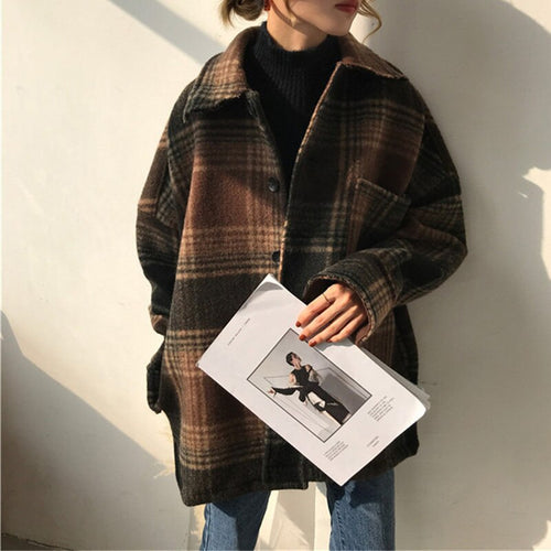 Plaid Wool Vintage Coat