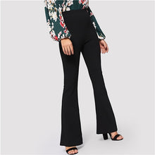 Load image into Gallery viewer, Elastic Waist Flare Hem Pants