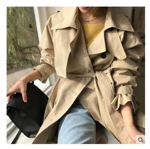 Double Breasted Mid-Length Trench Coat