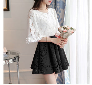 Lace Flare Sleeves Top