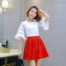 Load image into Gallery viewer, Lace Flare Sleeves Top