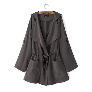 Long Sleeve Hooded Coat