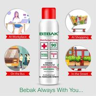BEBAK 3 PLUS HANDCLEANING PANTHENOL SPRAY 150ML - Haarkeuze