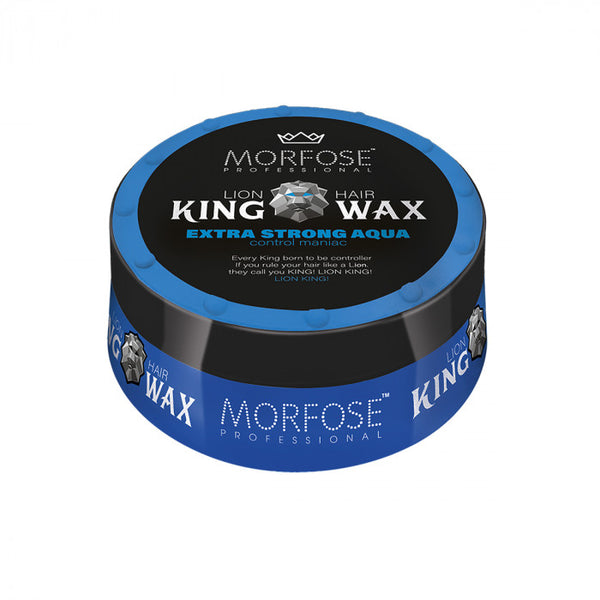 Morfose Lion King Hair Wax Extra Strong Aqua Blue 175ml - Haarkeuze