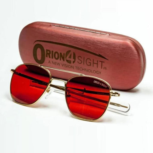 ORION4Sight Gold Apache Sunglasses w/ O4S Lens Camping &