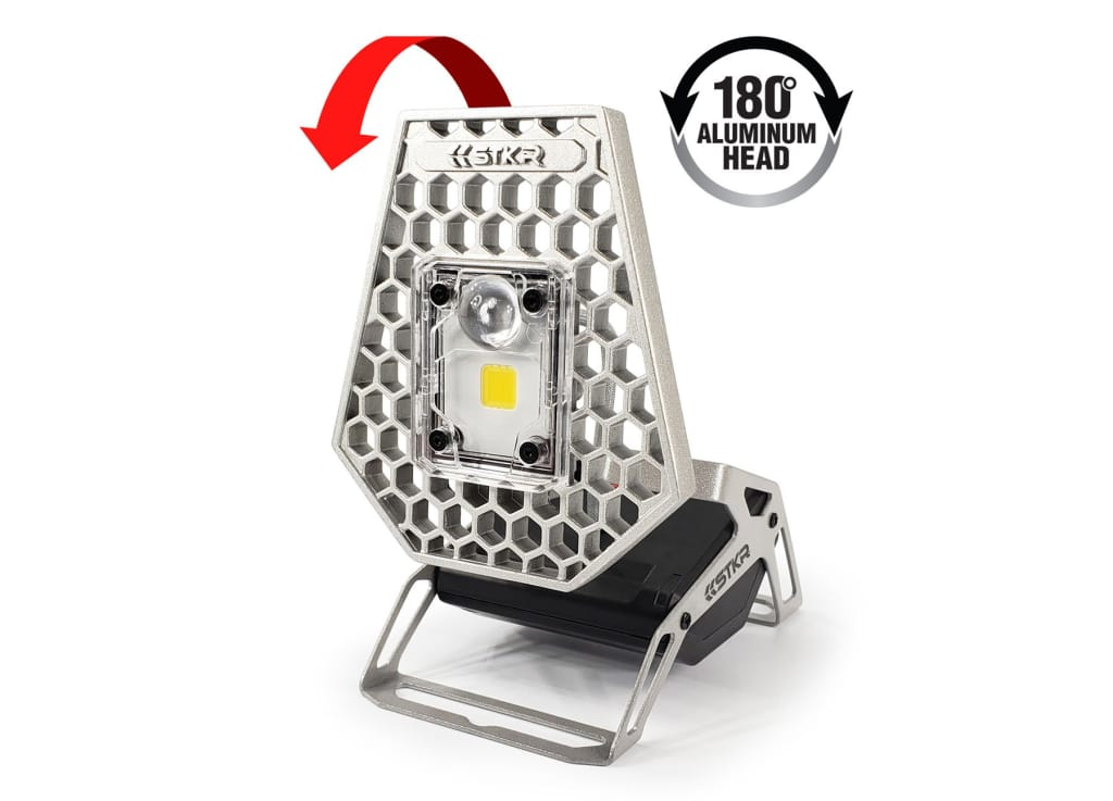STKR Concepts Mobile Task Light 180 degree aluminum head