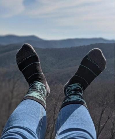 Bear Proof Socks with Mountains
