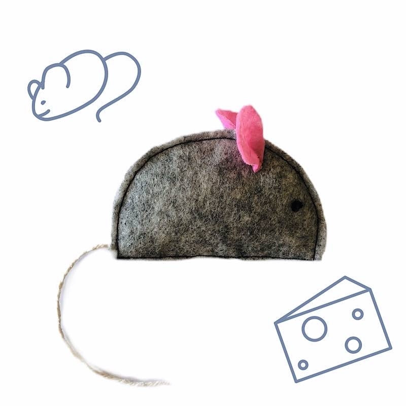 Grey Mouse Cat Toy