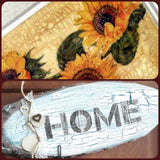 how to come creare con Craquelè decoupage vernice screpolante pittura carta riso girasoli tovaglioli home