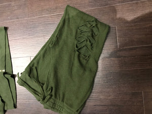 Army Green Distressed Jogger Set!